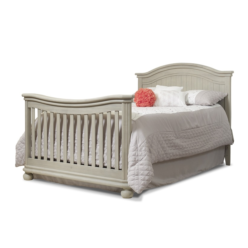Sorelle Finley 4in1 Crib Full Size Rails Heritage Fog