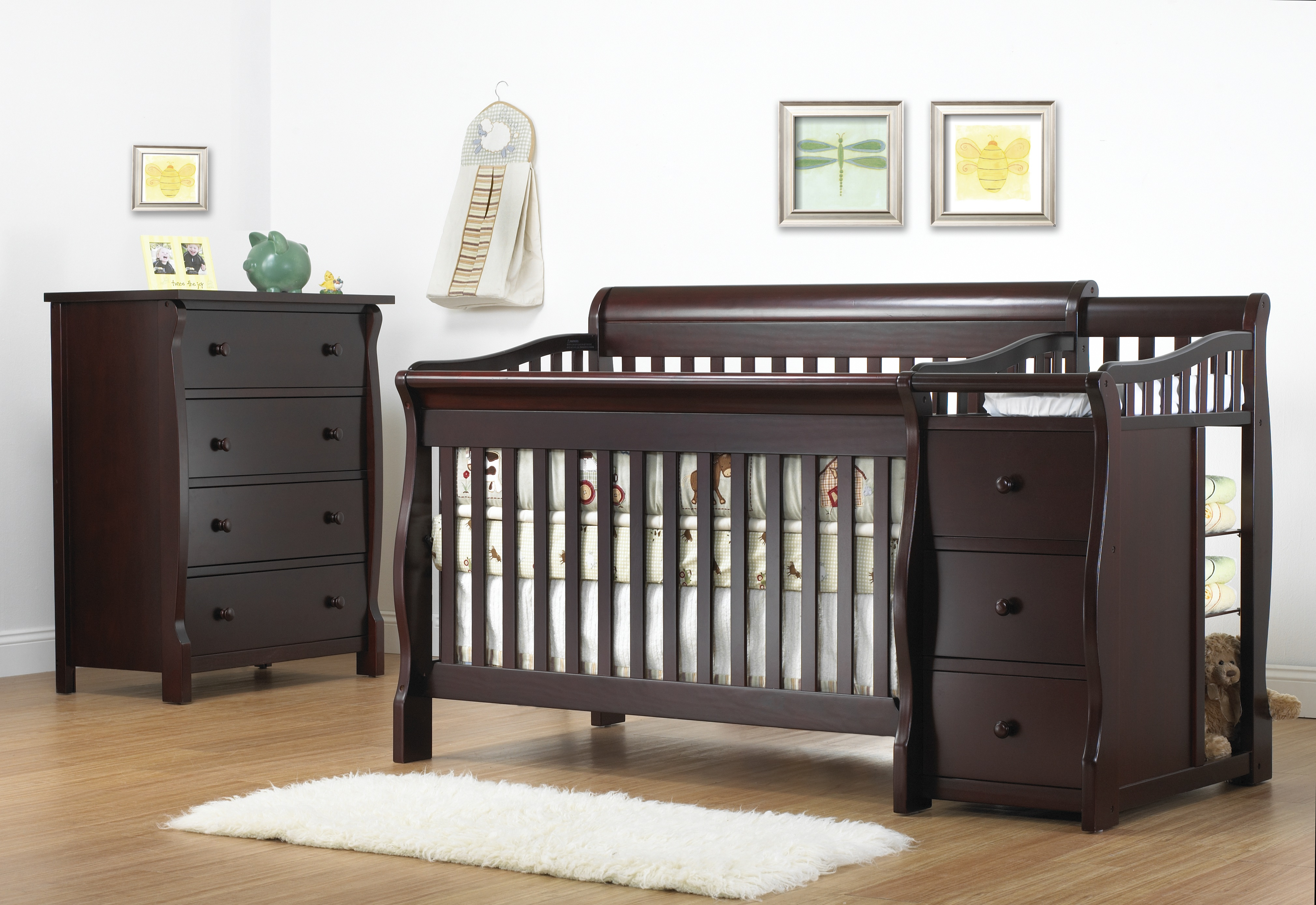 in rich convertible cherry combo boxes amazon com kd kalani cribs crib dresser dp davinci