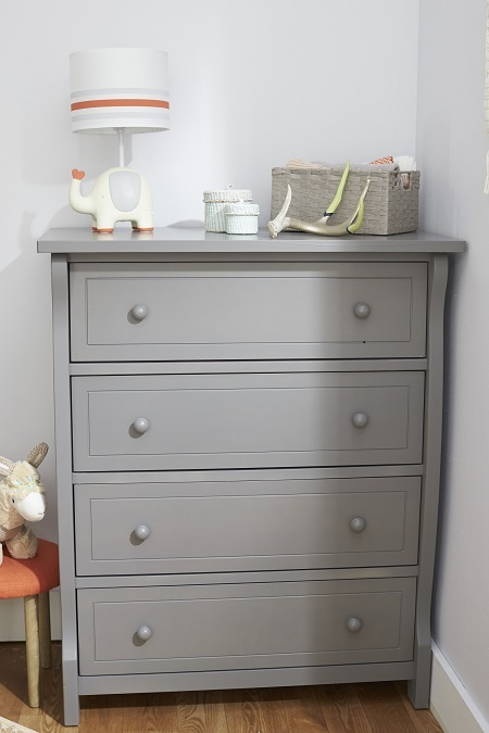 Sorelle Princeton Elite 4 Drawer Dresser Weathered Gray